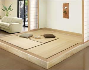 桐の畳を使った和室